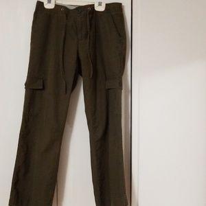 Old Navy Ladies SZ 2 Dark Olive Green Cotton Pants